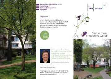 SPITAL ZUM HEILIGEn GEIST - Stiftung Haus Lindenhof
