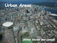 Urban Areas US & Canada