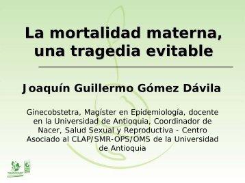 La mortalidad materna una tragedia evitable - Universidad de ...