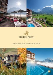 TOP OF TIROL. MEIN ALPINE LuxuRy HOTEL.