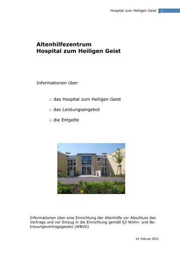 Altenhilfezentrum Hospital zum Heiligen Geist