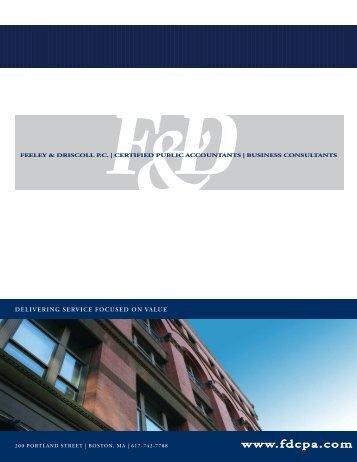 Company Brochure - Feeley & Driscoll PC