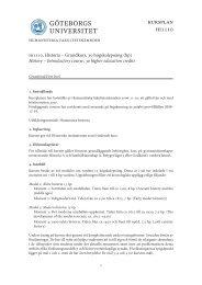 kursplan hi1110 - Institutionen för historiska studier