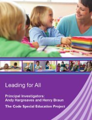 Boston College Leading for All: A research report of the ... - CODE