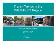 Transit Trends in the WILMAPCO Region