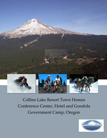 Collins Lake Resort Town Homes Conference ... - Cahill Consulting