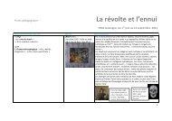 Pistes pédagogiques Michel Gouéry et Slide Show - FRAC Auvergne