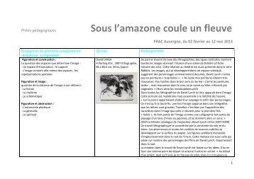 Sous l'Amazone coule un fleuve - Programme de ... - FRAC Auvergne