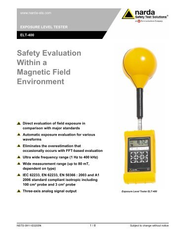 Safety Evaluation Within a Magnetic Field Environment - EMPOS
