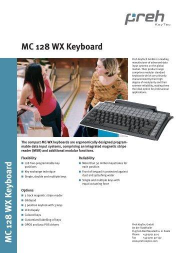 MC 128 WX Keyboard MC 128 WX Keyboard - POSdata.nl