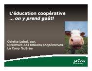 Colette Lebel, La Coop fédérée
