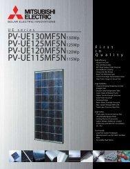 UE5 Specification Sheet 115-130W - Mitsubishi Electric