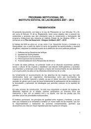 Programa Institucional del Instituto Estatal de las Mujeres