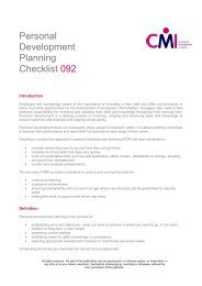 Free to download, our Personal Development checklist - Chartered ...