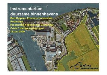 Instrumentarium duurzame binnenhavens - watererfgoed.nl