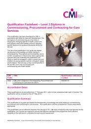 Qualification Factsheet – Level 3 Diploma in Commissioning ...