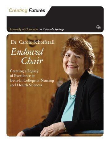 Endowed Chair - University of Colorado Foundation