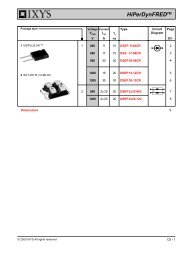 HiPerDynFREDTM Epitaxial Diode with soft recovery