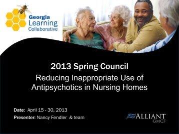 Reducing Antipsychotics in Nursing Homes - Gmcf