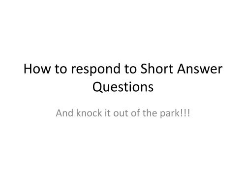 how to respond to short texts