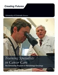 Training Specialists in Cancer Care - University of Colorado ...