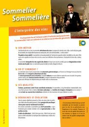 Sommelier Sommelière - Onisep