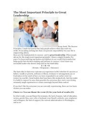 The Most Important Principle to Great Leadership - Right Selection