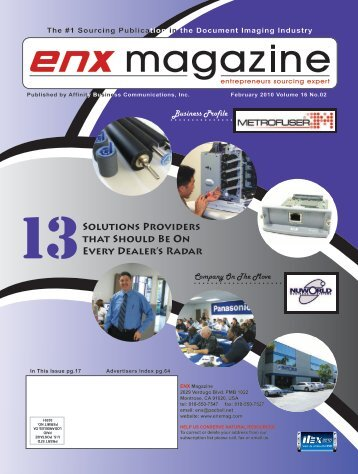 February 2010 Issue PDF - ENX Magazine
