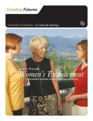 Women's Endowment - University of Colorado Foundation