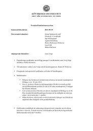 Protokoll 110929 - Institutionen för historiska studier