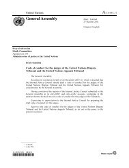 Code of conduct for the judges of the UN Dispute Tribunal and the ...
