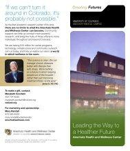 Leading the Way to a Healthier Future - University of Colorado ...