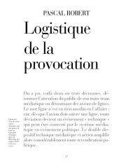 Logistique de la provocation