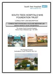 SOUTH TEES HOSPITALS NHS FOUNDATION TRUST - Hays