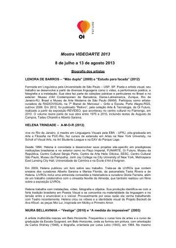 Oi Futuro apresenta mostra VIDEOARTE 2013 reunindo a produção ...