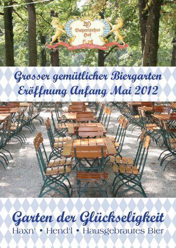 Grosser gemütlicher Biergarten Bestes hausgebrautes Bier ...