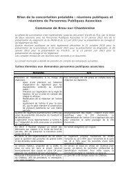 Bilan de la concertation - Brou Sur Chantereine