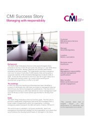 CMI Success Story - Chartered Management Institute