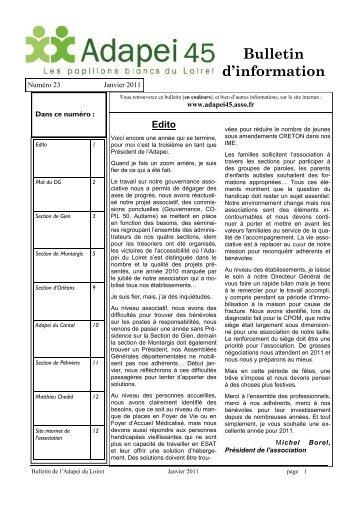 Bulletin d'information - Adapei