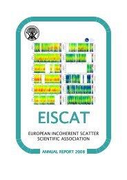 european incoherent scatter scientific association - EISCAT