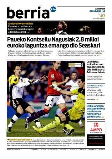 Paueko Kontseilu Nagusiak 2,8 milioi euroko ... - datu-basea19