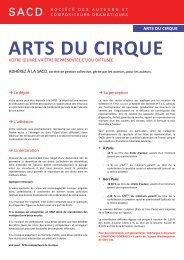 Arts du cirque (246 Ko) - SACD