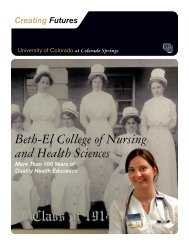 Beth-El College of Nursing and Health Sciences - University of ...