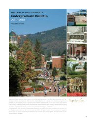 Undergraduate Bulletin - Office of the Registrar - Appalachian State ...