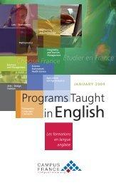 Programs Taught