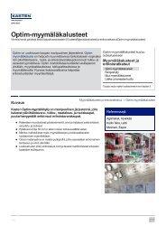 Optim-myymäläkalusteet - Kasten