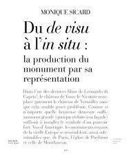la production du monument par sa représentation - Le site de la ...