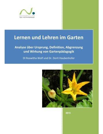 Lernen und Lehren im Garten