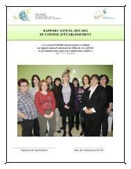 rapport annuel 2011-2012 du conseil d'établissement - Commission ...