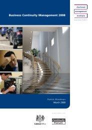 Chartered Management Institute BCM Report 2008 - Gov.uk